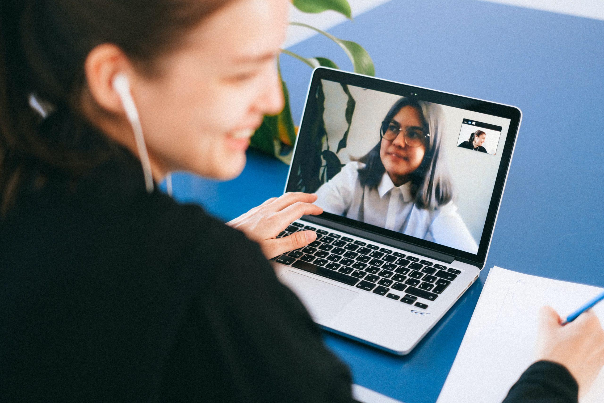 Skype video interview